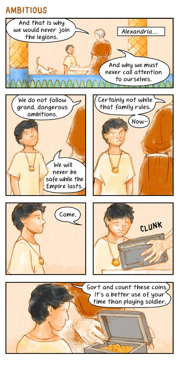 Wednesday colour comic: Ambitious