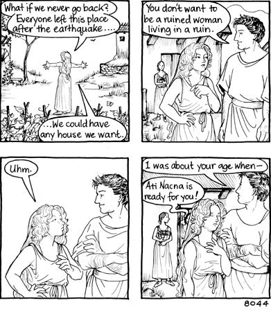 ruins woman