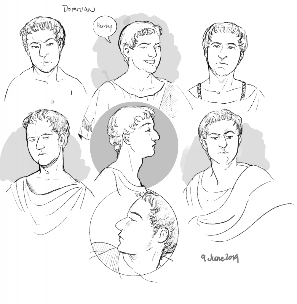 Domitian head studies
