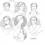 Domitian head studies