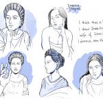 Domitia head study