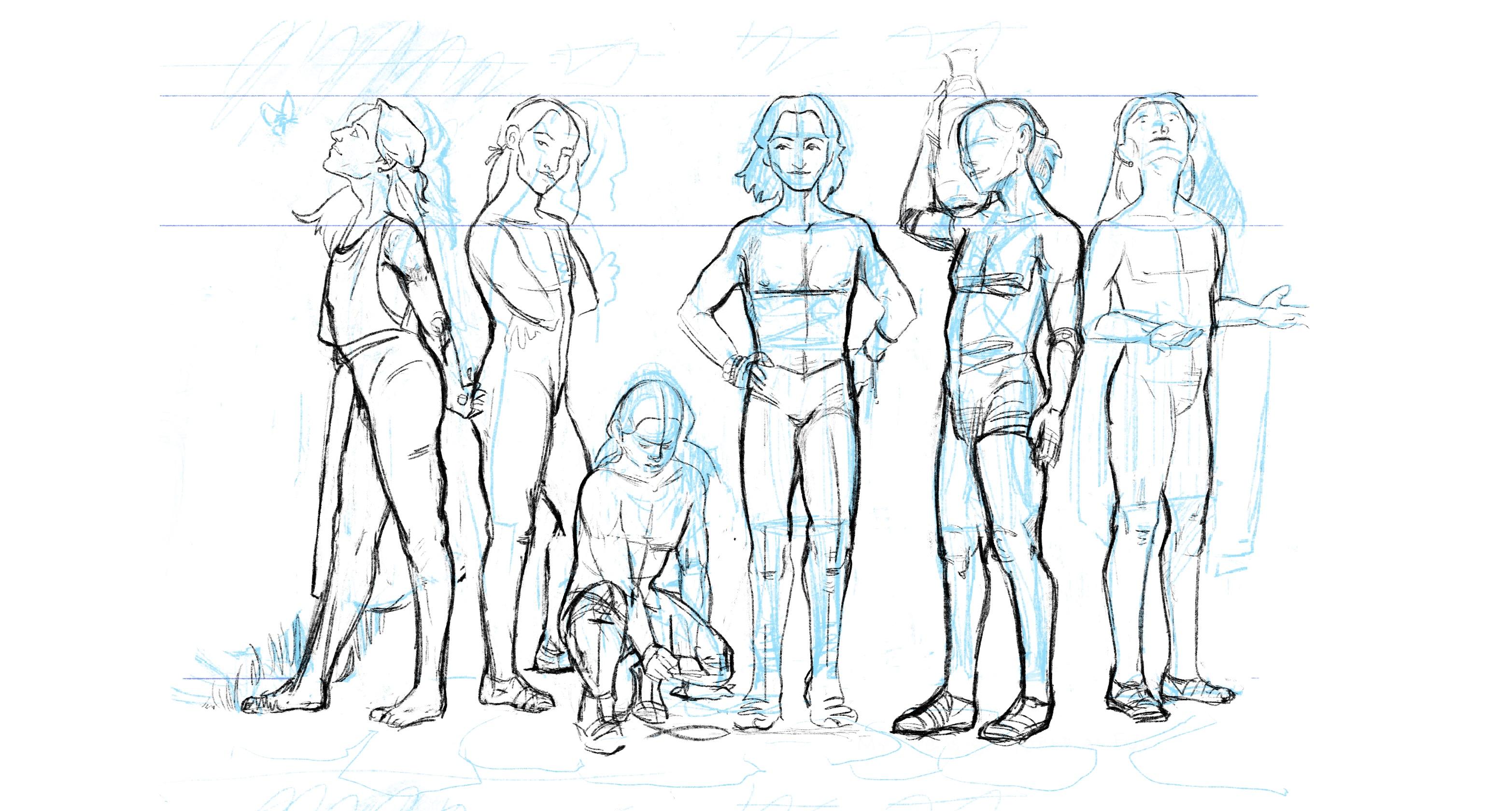 Head/body study: Iphis 1/3