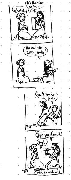 Itty bitty Valentine's sketch