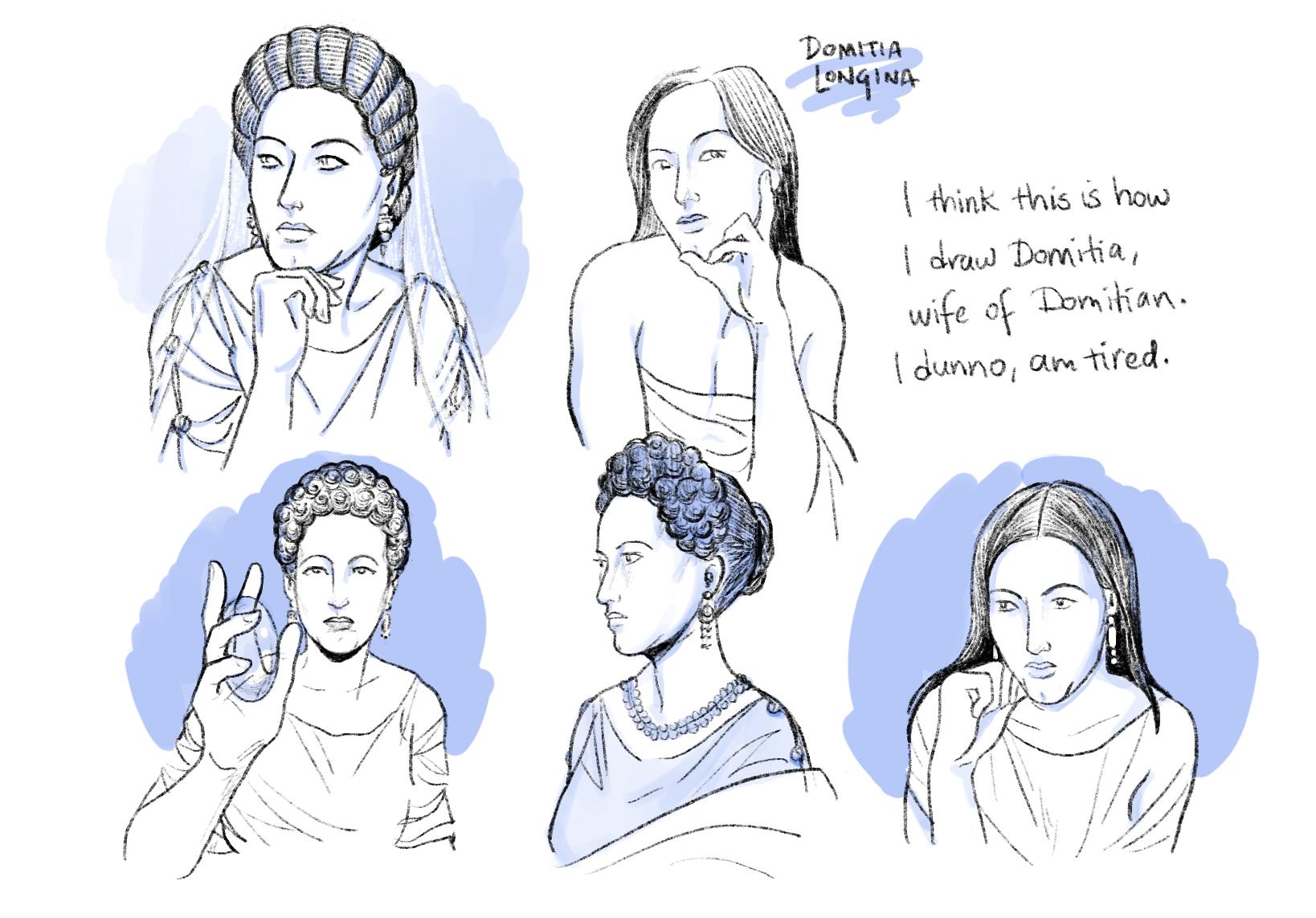 Head study: Domitia Longina