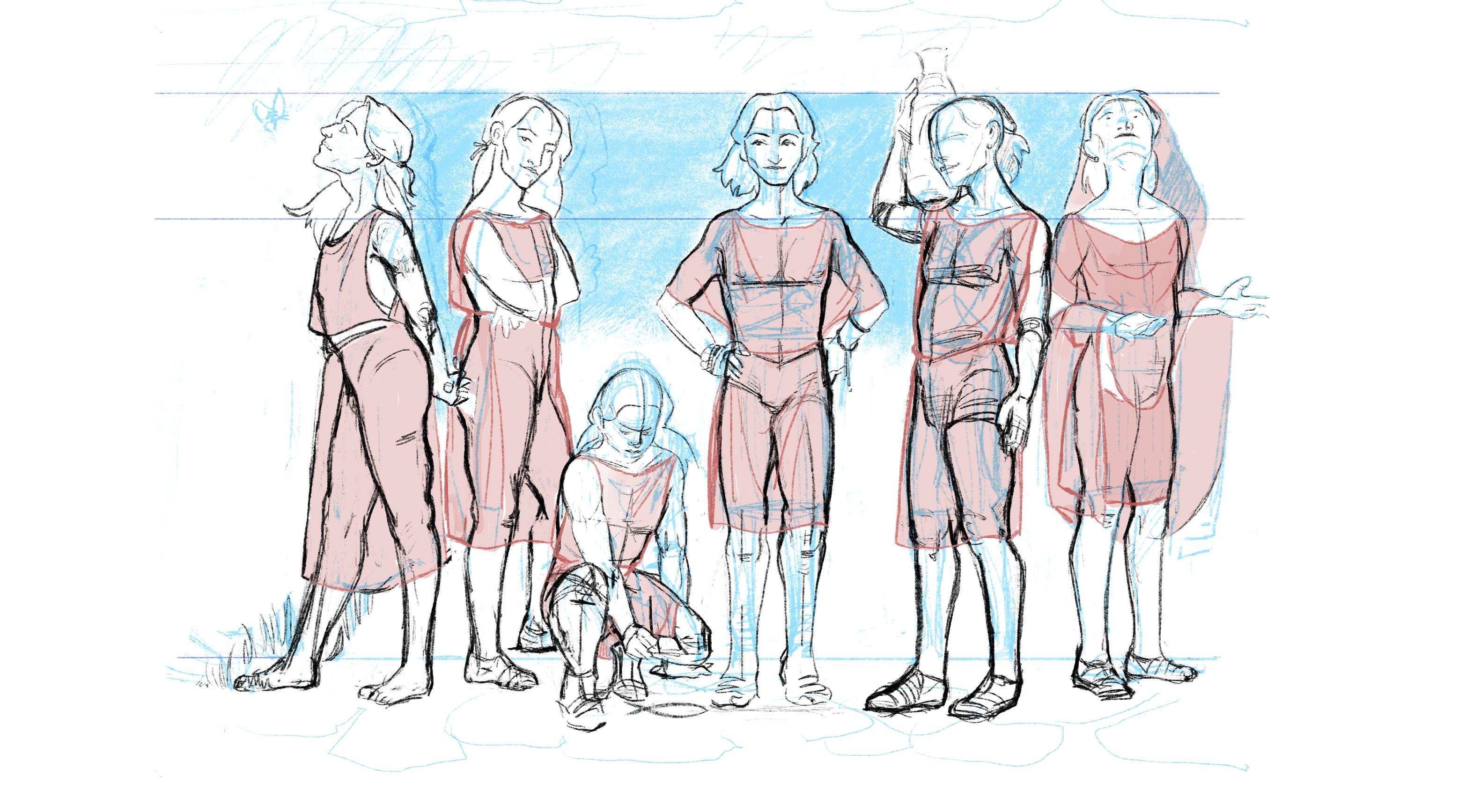 Head/body study: Iphis 2/3